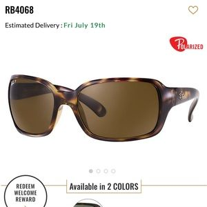 Ray Ban 4068 polarized sunglasses